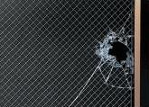 網入り板ガラス破損状況