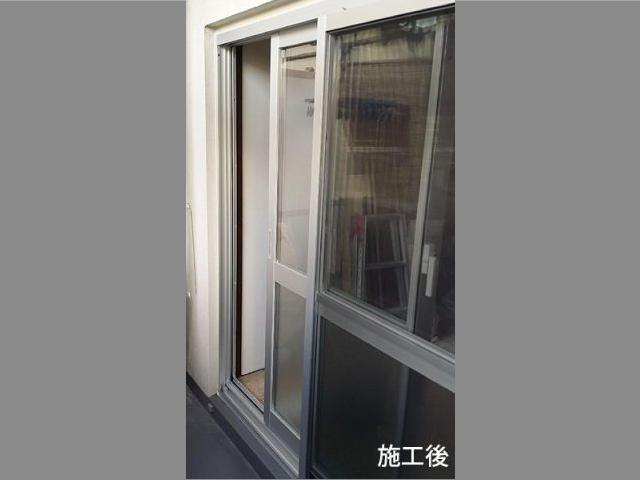 大田区のマンションで和室&洋室のテラス窓と網戸をリフォーム