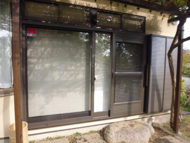 採風雨戸付!窓の結露対策リフォーム(神奈川県 横浜市 都筑区)