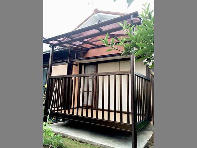 お布団干しも楽々!庭に新しいバルコニー(神奈川県横浜市)