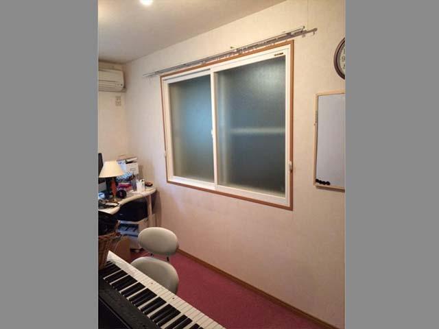 ピアノ教室の防音対策に二重窓!(川崎市多摩区)