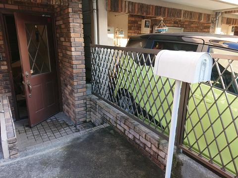 台風で飛んだフェンスの取り付け(東京都大田区)